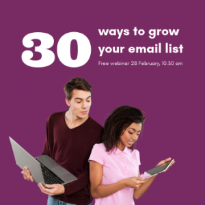 30 ways to grow your email list web ad