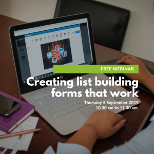 Creating list building forms that work