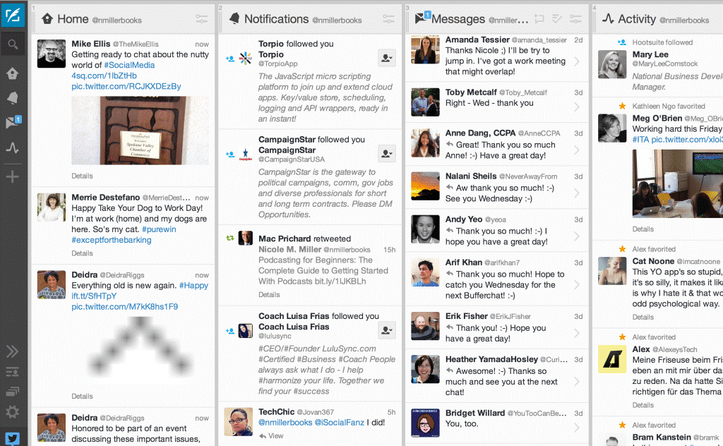 Tweetdeck is Twitter's own platform where you can host or participate in Tweet chats