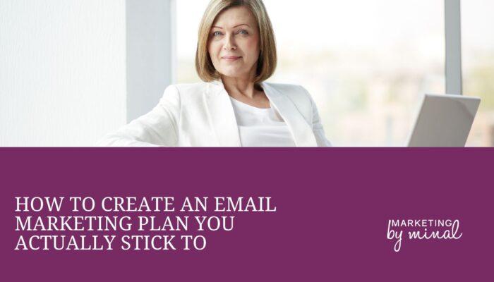 Email marketing plan