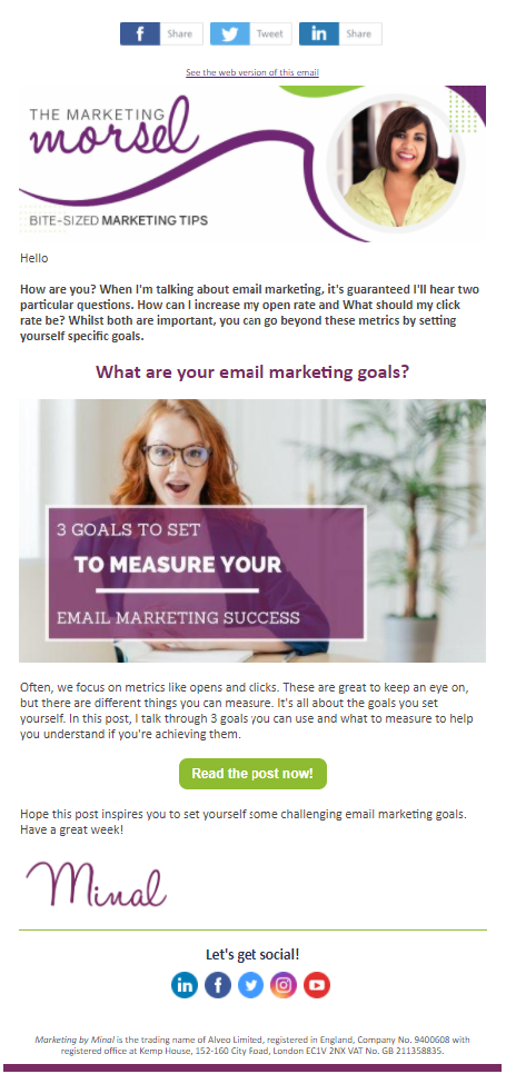 How to create an email marketing template