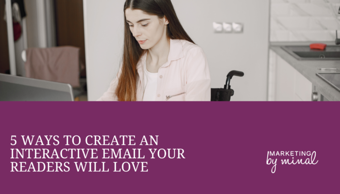 How to make an interactive email